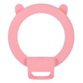 Portable Clip-on Cute Lovely LED Ring Selfie Self-portrait Supplementary Fill-in Lighting Light for iPhone Blackberry Samsung HTC Smartphone