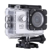 """W9B 1080p 30 FPS Max 12MP Wifi Etanche 30M antichoc 170 ° Grand Angle 2.0"""" écran Action en plein air Sports Caméscope Digital Cam HD vidéo DV voiture caméra DVR"""
