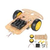2WD 2-Wheel Smart Car Chassis DIY Kit Traçando Carro com Speed ​​Encoder 2 Motor 1:48 para Arduino