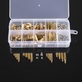 240 PCS M2 M3 Parafusos Espaçadores Espaçadores Masculino Feminino de Bronze Standoff Spacer PCB Board Parafusos Hex Porcas Variedade Kit Hardware