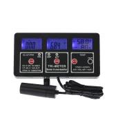 Новый профессиональный 7 в 1 Многопараметрический воды тестирование метр цифровой LCD многофункциональный воды качество монитора ORP / pH / RH / EC / CF / TDS(PPM) / TEMP тестер качества воды Multiparameter
