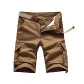 Новые летние мужчины грузов шорты несколькими карманами случайные военных армии стиль работы свободные шорты не пояса