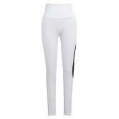 New Women Sport Yoga Leggings Mesh Splice Solid Stretch Gimnasio Gimnasio Running Bodycon Pantalones Blanco
