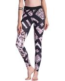 Las mujeres de moda Leopard Print Sporting Leggings pantalones elásticos de alta elásticos Fitness Gym Workout Leggings Pantalones Negro