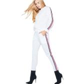 Костюмы спортивной костюмы женщин костюма костюма костюма 2 комплекта плюс размер Осенняя зима Толстовка одежды