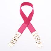 Nueva moda mujeres cinturón delgado PU empalme Clip cierre pretina elástico frontal correa cintura cadena