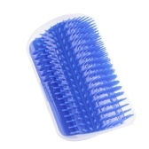 Pet Cat Comb Brush Wall Corner Tickling Hair Removal Massage Device Self Kitty Playing Bauble with Catnip