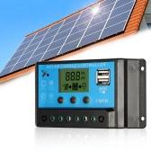 Anself 10 a 12.6V LCD solaire contrôleur PWM charge régulateur de Charge pour panneau solaire Lithium Batterie Lampe Protection contre les surcharges