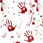Tovaglia a motivo stampato con motivo a mano sanguinante
