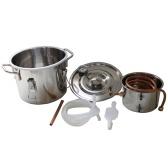 Destilador de purificación casera del cobre del agua del alcohol del acero inoxidable