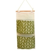Home Use Wall-Mounted Organizer Water-Resistant Cotton-Flax Hanging Bag