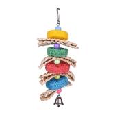 Brinquedos para gaiolas de pássaros Brinquedos suspensos com pergaminho para Parakeet Parrot Budgie Cockatiel com Blocos Knock Block