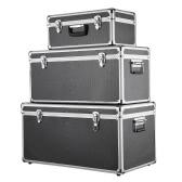 iKayaa 3PCS Multi-Purpose aluminium Boîtes à outils Case Boîtes de rangement verrouillable Container Grand / Moyen / Small Size Avec Poignées
