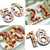 عدد 1 قطعة كبيرة عدد كعكة العفن 0-9 أرقام