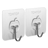 TOMTOP 2pcs/set Hooks Wall Hook with Back Adhesive