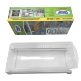 Plastic Refrigerator Drawer Pull Out Organizer Large Storage Container Square Food Egg Bin Fridge Desk Table