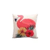 Capa de Almofada Flamingo de Linho