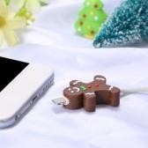 Housse de protection pour chargeur USB avec thème sur le thème du câble mignonne de Noël