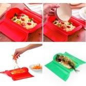 Силиконовая микроволновая печь Пароварка для кухни Кулинария Чаша Обеденная коробка (случайный цвет)