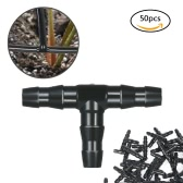 50pcs Sets Tube Joint Joint de tuyaux Irrigation Système d'arrosage de tuyaux d'eau à barbes
