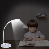 Lampe de bureau rechargeable USB à LED blanche AC100-240V + lampe de bureau dimmable tactile RVB