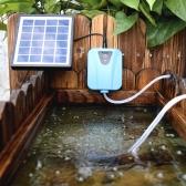 Solaire / DC charge Oxygen oxygénateur de pompe à eau aérateur de bassin avec 1 Air Pierre Aquarium 2L pompe à air / min