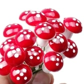 15Pcs Mini Lovely Simulation Small Mushrooms