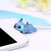لطيف الحيوان كابل دغة USB شحن حامي غطاء
