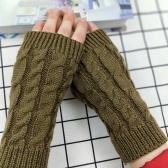 Moda inverno Unisex Arm Warmer Fingerless malha luvas longas luvas bonitos