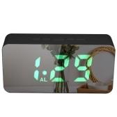 Цифровой цветной RGB светодиодный зеркальный будильник