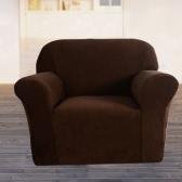 Alta qualità elastico morbido poliestere dello Spandex fodera per divano Copridivano 3 posti marrone