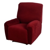 Segunda Mão de Alta Qualidade Elastic Poliéster Macio Spandex One Seater Reclinável Capa Borgonha