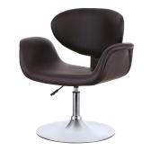 Second Hand iKayaa Modern Ergonomic Adjustable PU Leather Salon Barber Chair Stool Padded Pneumatic Haidresser Chair