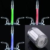 7 cores brilho LED luz torneira de água
