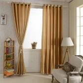 """Cortinas de janela de cor 2pcs 100 * 250cm ilhó Blackout cortina forros painel sólido Bright macio janela cortina elegante janela tratamentos tamanho 39 """"* 98"""""""