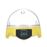 7 Eggs Mini Incubadora de ovos digitais Hatcher Transparente Eggs Hatching Machine Controle de temperatura automático para pato de frango Ovos de pássaro AU Plug AC220-240V