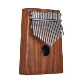 ammoon 17-Key ThumbピアノKalimba Mbira Sanzaハワイアンコアーソリッドウッドキャリーバッグミュージックブックミュージカルスケールステッカーハンマー楽器AKP-17Kチューニング