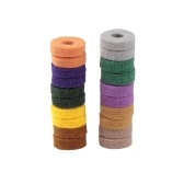 20pcs Colorful Cymbal Stand Felt Washer Pad Replacement Round Soft for Drum Set Cymbals (Random Color Delivery)