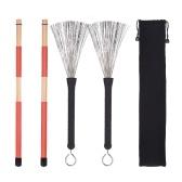 1 пару барабана стержни палочки + 1 пара барабанные щетки барабанная палочка с сумкой для джаза народная музыка
