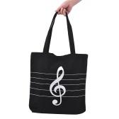 Borsa per la spesa della spesa di Tote Shoulder Tote Music Handbag in tela lavabile