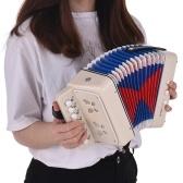 ミニ10ボタンキッズアコーディオン玩具はベースコードをサポートしています14子供のためのクリーニングクロスの教育用楽器