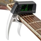 Meideal TCapo20クイックチェンジキーのカポチューナー 合金材料 アコースティックギター/ベース/クロマチックに適用