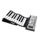 61鍵盤 キーボード ハンドロールピアノ 電子ピアノ ピアノ 軽量 くるくる巻いてコンパクトに収納!USB 電子キーボード  口調:128 リズム:128 デモ曲:40【並行輸入品】