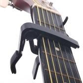 弦楽器  ギター カポ カポタスト アコースティックギター エレキギター対応  シンプルで使いやすい  ブラック/シルバー【並行輸入品】