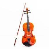 Second Hand 4/4 Violin Fiddle Basswood Steel String Arbor Bow Instrumento de cuerda para principiantes amantes de la música