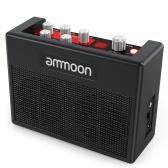 ammoon POCKAMPポータブルギターアンプアンプ内蔵80インチドラムリズムサポートチューナータップテンポ機能、Aux入力ヘッドフォン出力、電源アダプター内蔵