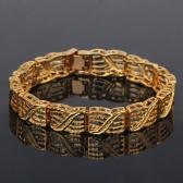 أزياء شخصية الشرير الصخرة نمط 18 كيلو مطلية بالذهب المعادن ربط سلسلة اليد سوار مجوهرات للنساء الفتيات