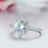 Rodada Inlay Anel de Diamante de Moda Europeus Clássico Jóias para Festa de Casamento Acessórios de Mulheres e Meninas