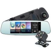 JUNSUN A800 multifunzione Wifi auto guida registratore portatile Auto DVR Dual Len Telecamera retrovisiva