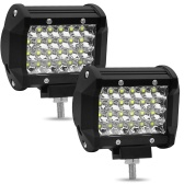 4 pulgadas 72 W LED Light Bar Quad Row Spot Beam Cubos LED Luces de trabajo Conducción Faros antiniebla 24 Granos de la lámpara